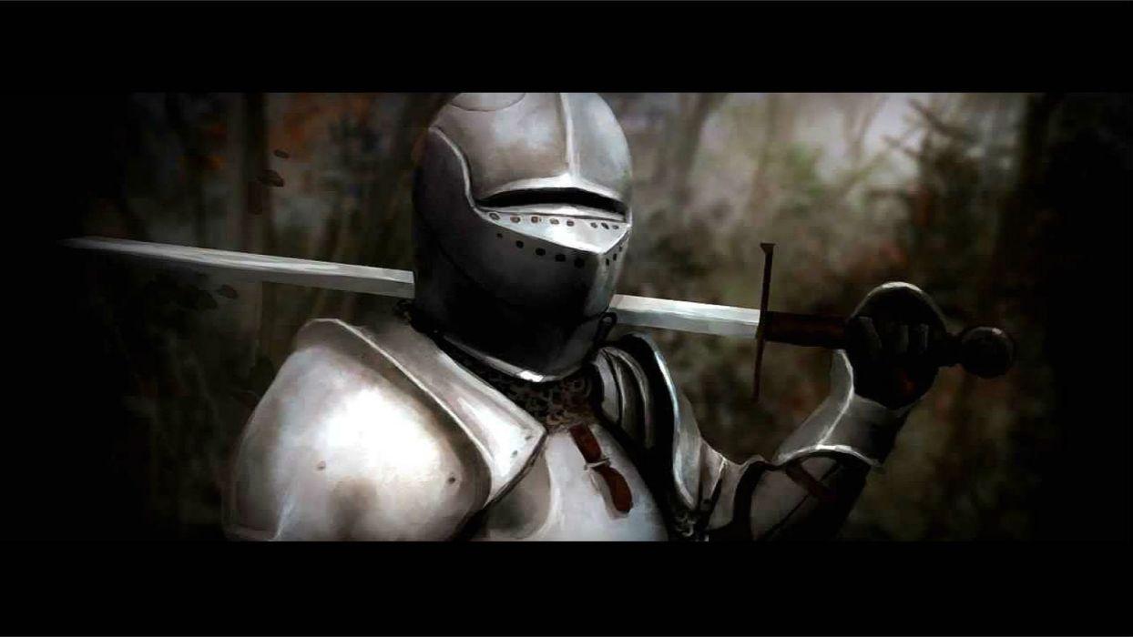 WARCRAFT Beginning fantasy action fighting warrior adventure world 1wcraft knight armor sword wallpaper