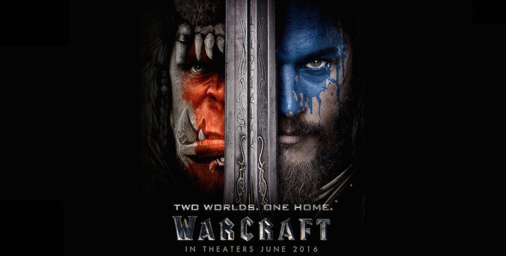 WARCRAFT Beginning fantasy action fighting warrior adventure world 1wcraft knight armor orgre monster creature poster sword wallpaper