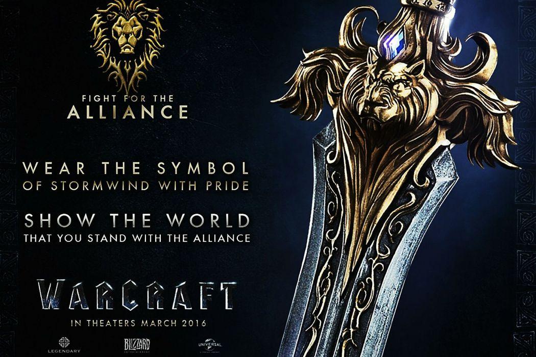 WARCRAFT Beginning fantasy action fighting warrior adventure world 1wcraft poster sword wallpaper
