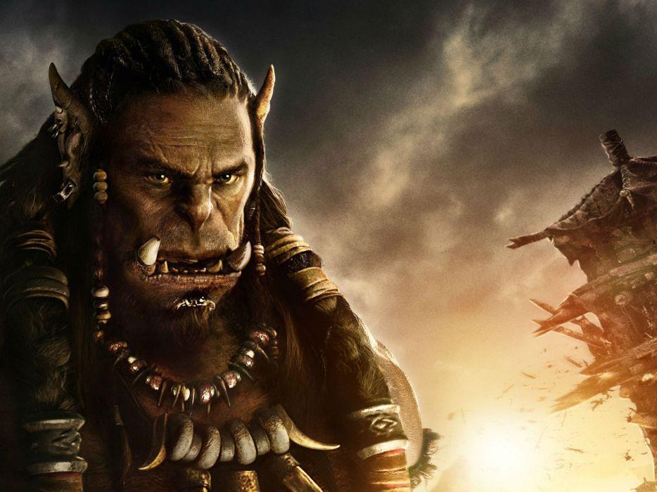 WARCRAFT Beginning fantasy action fighting warrior adventure world 1wcraft monster creature ogre wallpaper