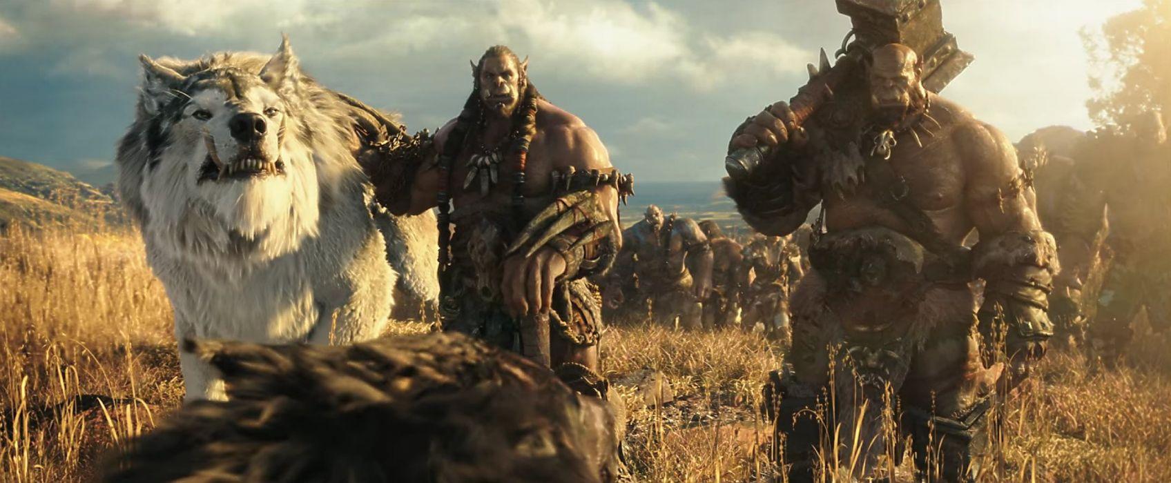 WARCRAFT Beginning fantasy action fighting warrior adventure world 1wcraft monster creature ogre wolf wolves wallpaper