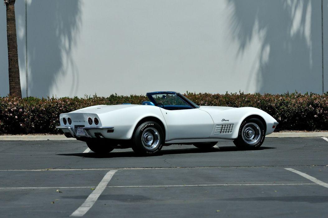 1970 Chevrolet classic convertible Corvette da3 muscle Supercar zr 1 wallpaper