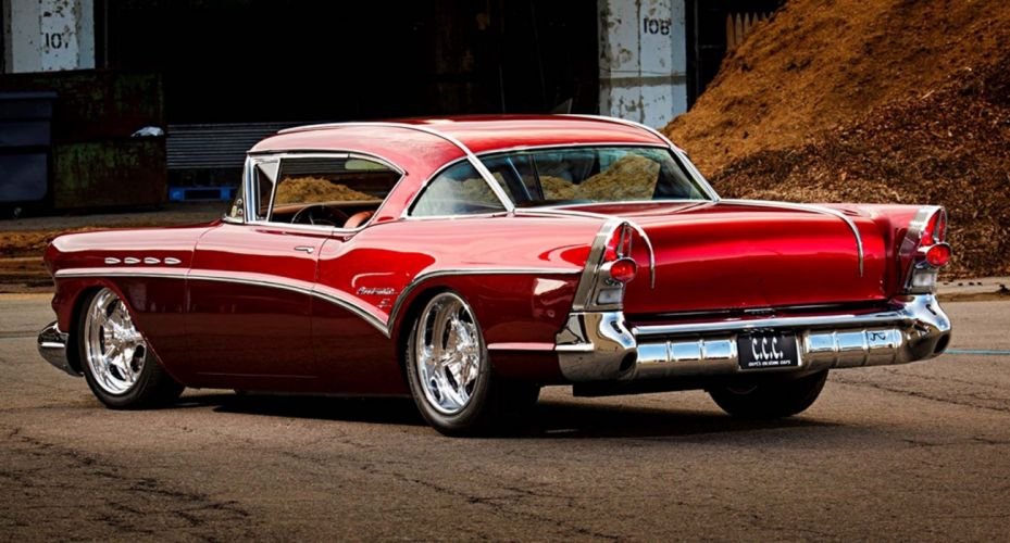 1957 Buick Heads cars coupe modified red wallpaper