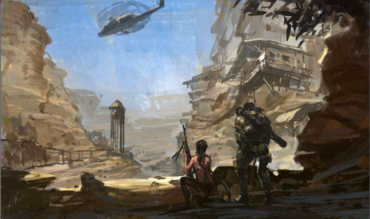 Aircraft Building Gun Jeanex Jpeg Artifacts Metal Gear Solid
