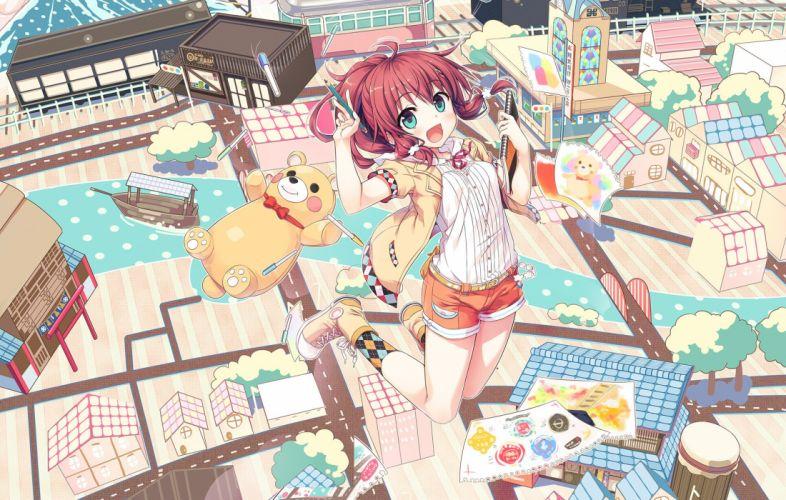 cura original girl artwork mood wallpaper