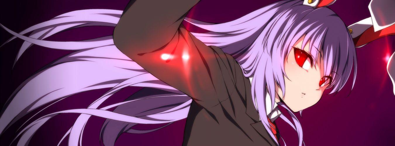 animal ears bunny ears bunnygirl long hair megalateo purple hair red eyes reisen udongein inaba tie touhou wallpaper