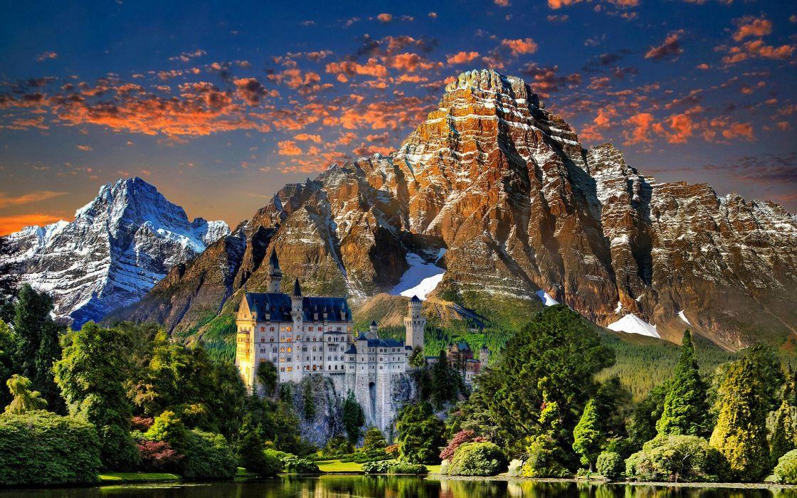naturaleza castillo alemania paisaje arboles montaA wallpaper