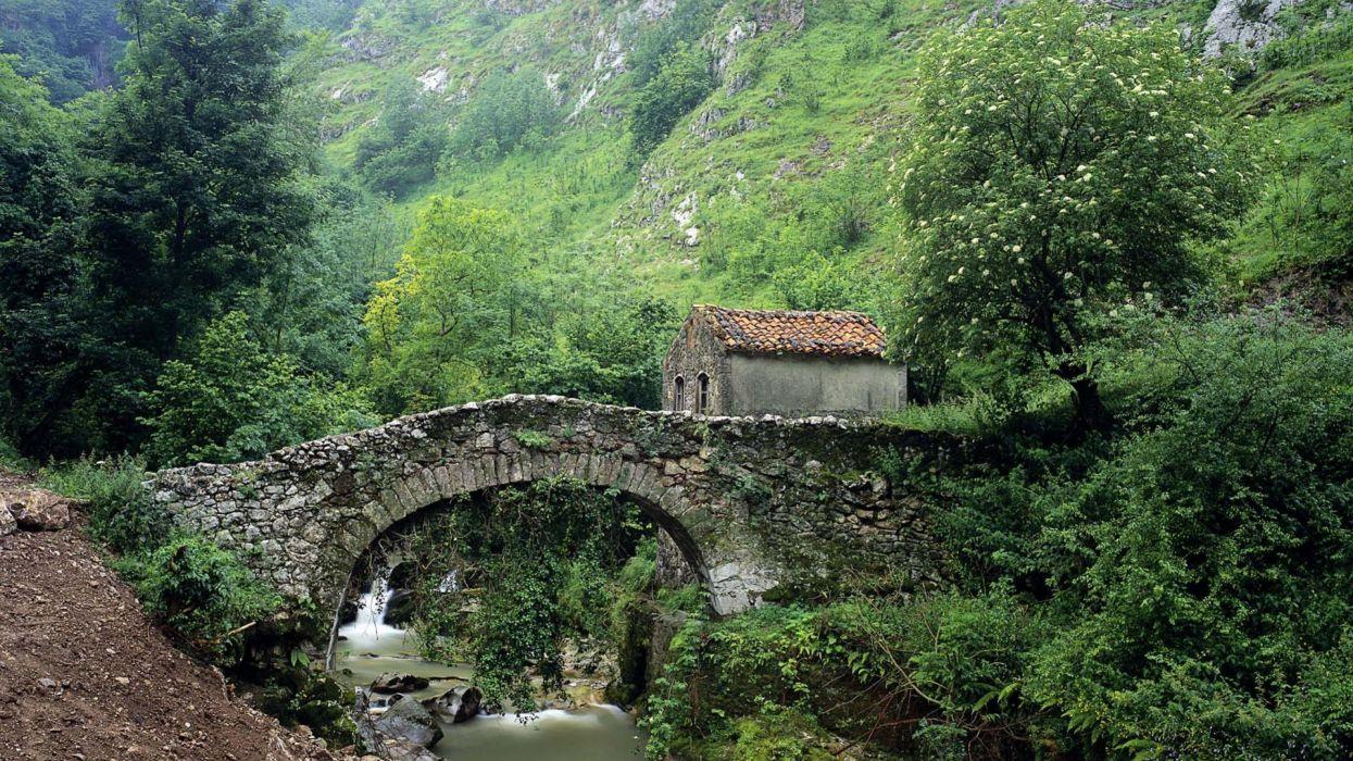 puente rio naturaleza paisaje wallpaper