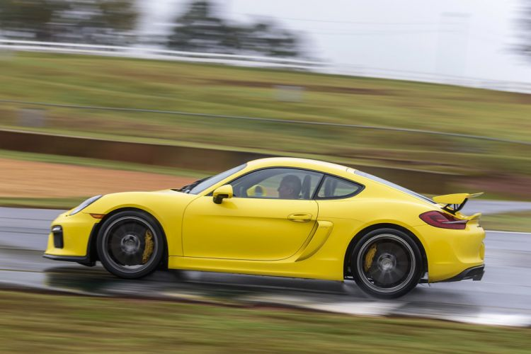 2016 cars cayman Coupe gt4 Porsche yellow drive wallpaper