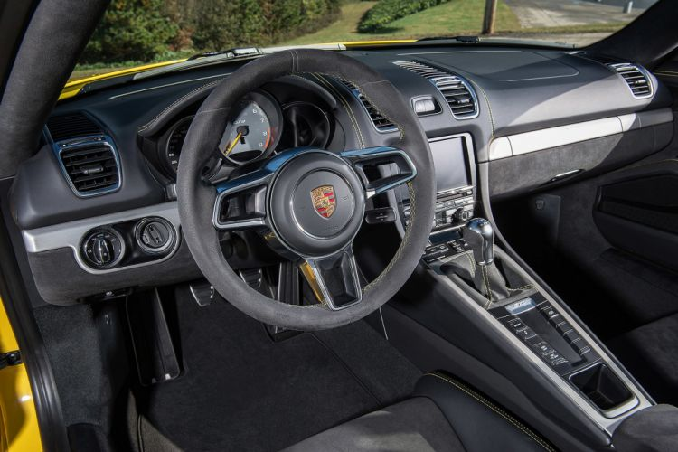 2016 cars cayman Coupe gt4 Porsche yellow drive wallpaper