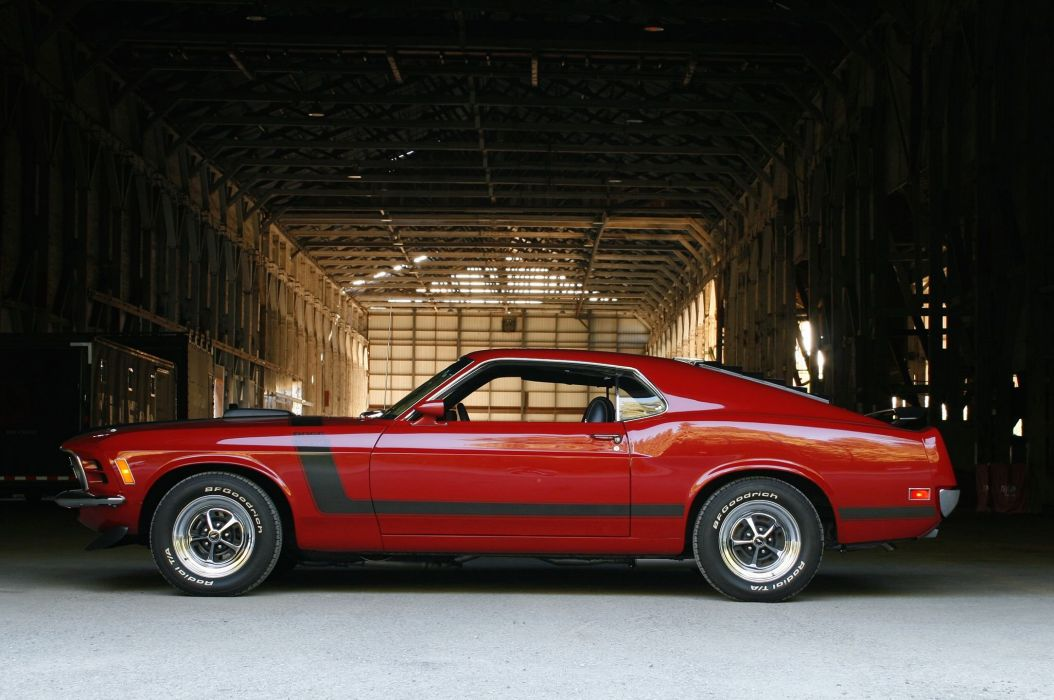1970 ford mustang Boss 302 cars red wallpaper