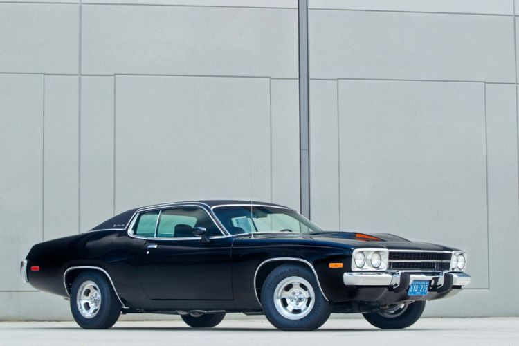 1973 Plymouth Satellite cars black coupe wallpaper