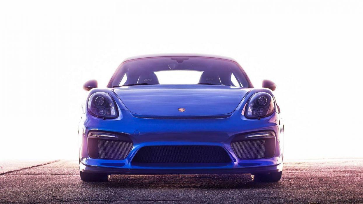 2016 cars cayman Coupe drive gt4 Porsche blue wallpaper
