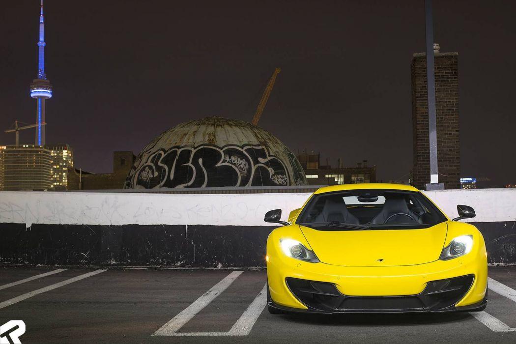 Volcano Yellow Vorsteiner McLaren mp4 12C cars coupe wallpaper