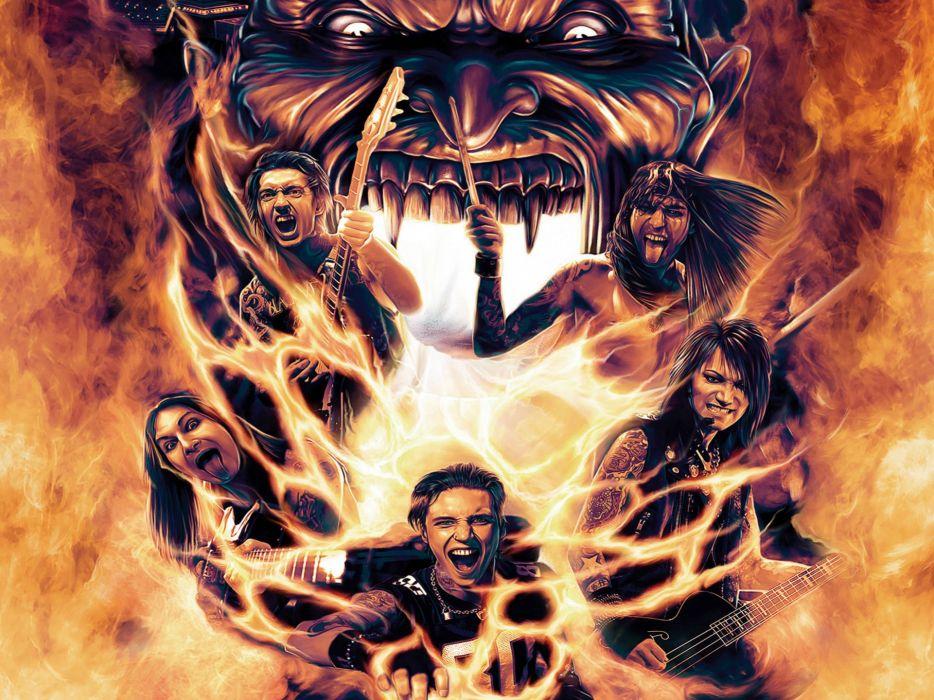 BLACK VEIL BRIDES heavy metal glam metalcore poster wallpaper