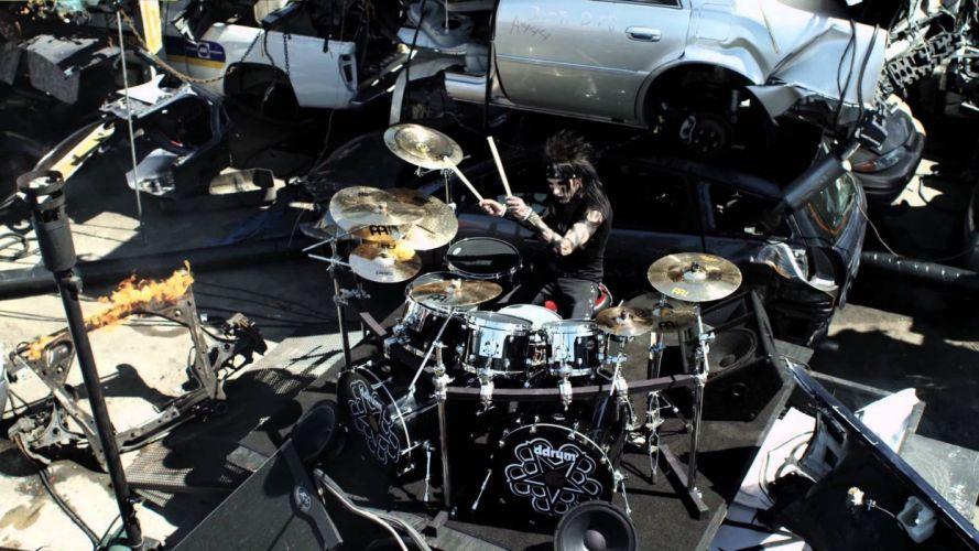 BLACK VEIL BRIDES heavy metal glam metalcore drums wallpaper