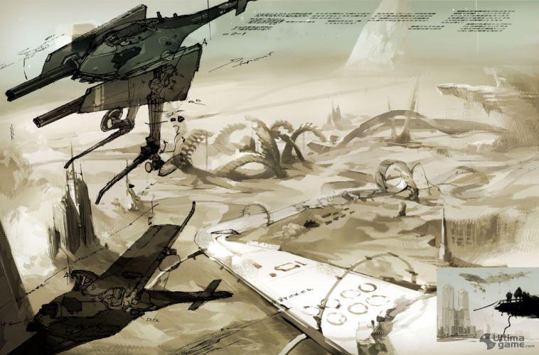 SIN PUNISHMENT anime fantasy shooter action fighting 1spun sci-fi wallpaper