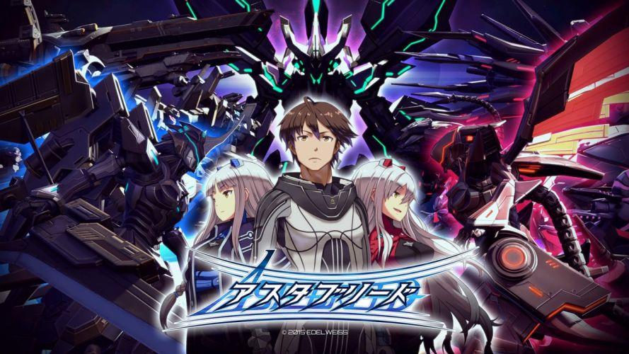 ASTEBREED sci-fi anime shooter fantasy action fighting mecha poster wallpaper