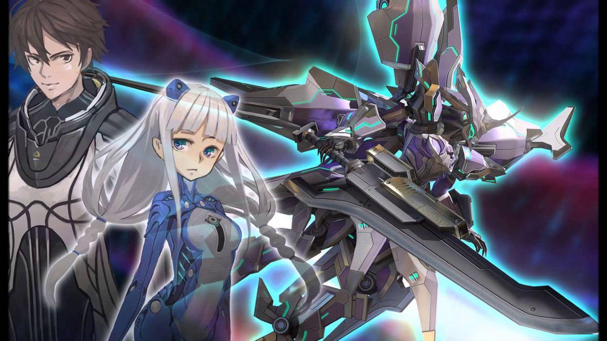 ASTEBREED sci-fi anime shooter fantasy action fighting mecha wallpaper