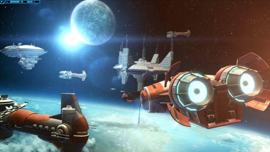 ASTEBREED sci-fi anime shooter fantasy action fighting mecha spaceship wallpaper