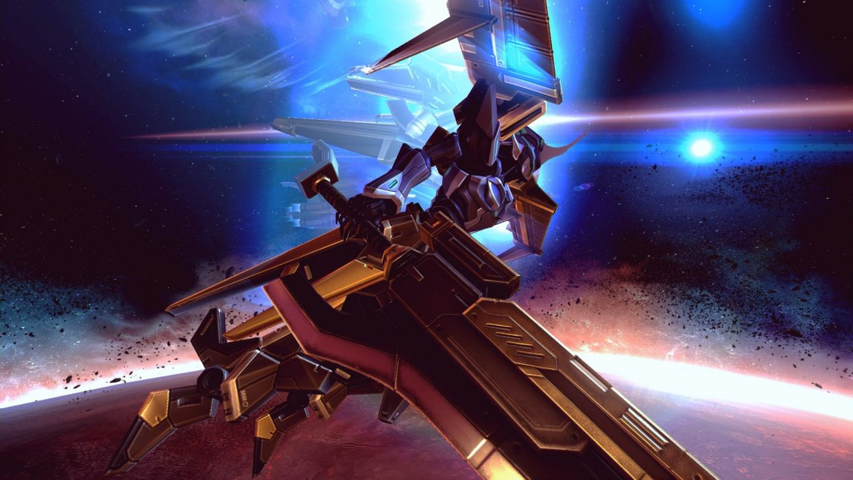 ASTEBREED sci-fi anime shooter fantasy action fighting mecha spaceship wallpaper