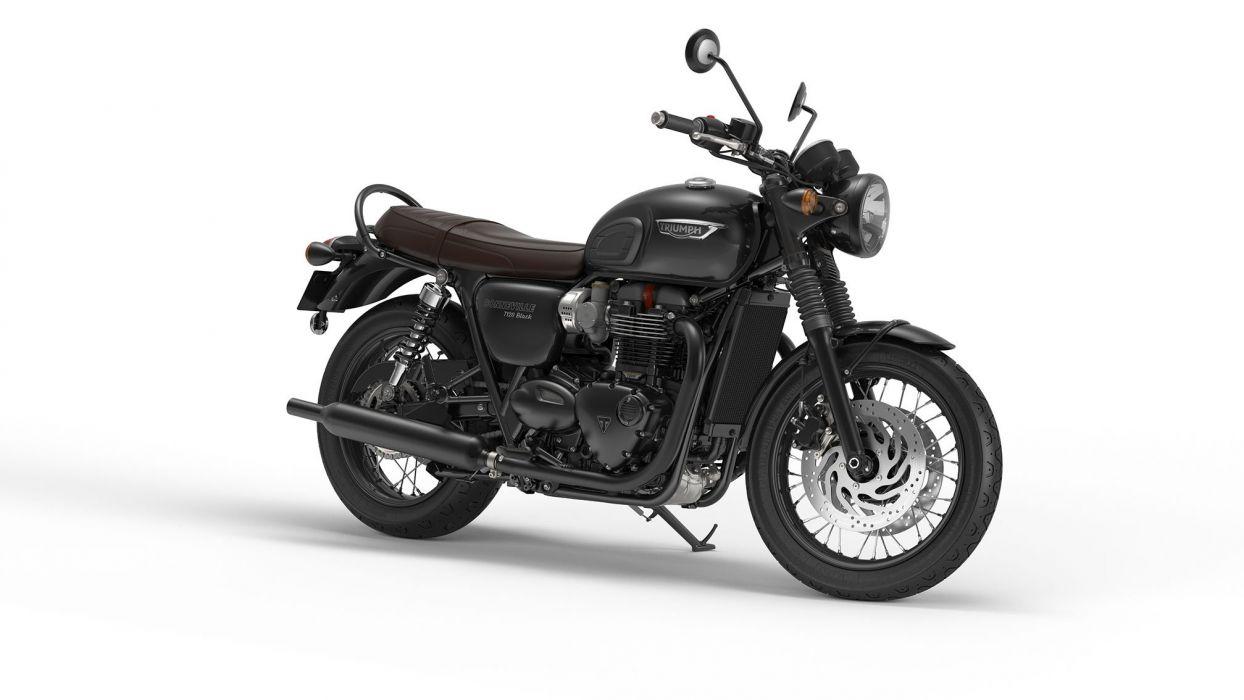 2016 Triumph Bonneville T120 Black bike motorbike motorcycle wallpaper