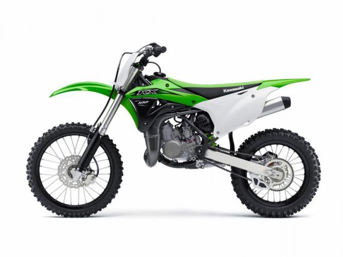 2016 Kawasaki KX100 bike motorbike motorcycle dirtbike motocross offroad race racing wallpaper