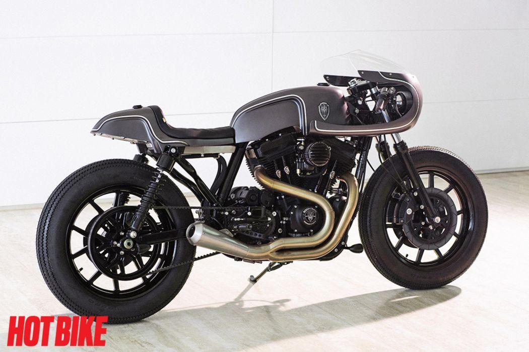HARLEY DAVIDSON cafe racer motorbike custom bike motorcycle poster wallpaper