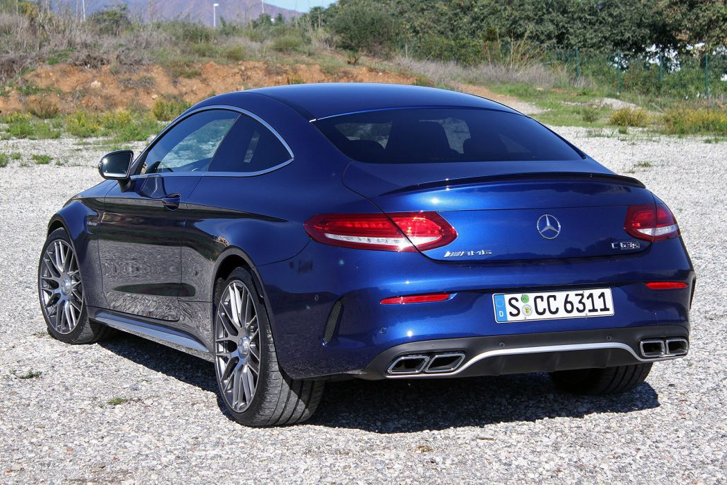 2016 Mercedes AMG C63-S Coupe blue 2015 wallpaper