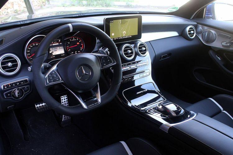 2016 Mercedes AMG C63-S Coupe blue 2015 wallpaper