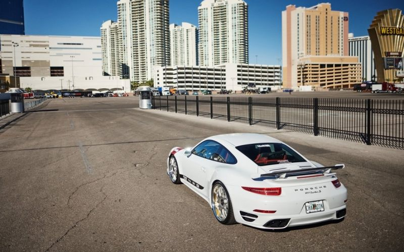 2015 H&R Springs Porsche 911 Turbo-S cars coupe modified wallpaper