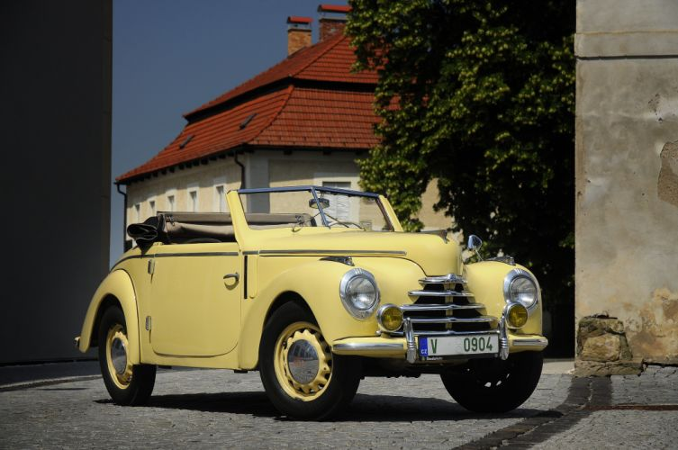 1950 Skoda 1102 Roadster Type-938 retro wallpaper