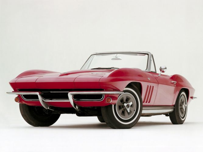 1965 Chevrolet Corvette Sting Ray 327 Convertible muscle supercar classic stingray wallpaper