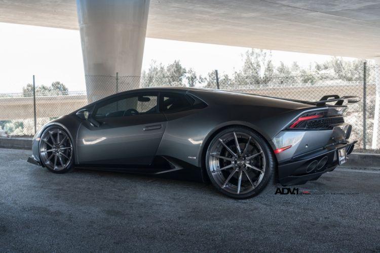 ADV1 WHEELS LAMBORGHINI HURACAN cars grey dark modified wallpaper