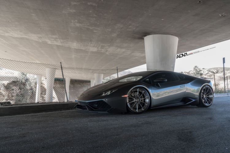 ADV1 WHEELS LAMBORGHINI HURACAN cars grey dark modified wallpaper