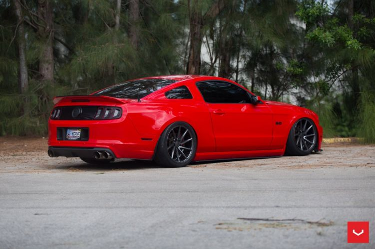 vossen WHEELS Ford Mustang red modified wallpaper