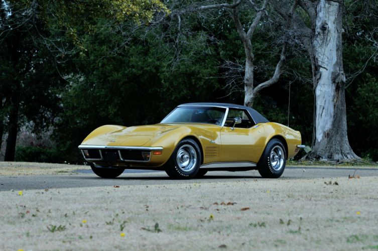 1971 Chevrolet Corvette Stingray LS6 454 425HP Convertible supercar muscle classic sting ray wallpaper