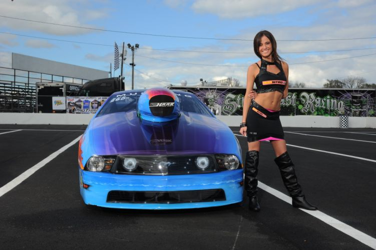 DRAG RACING race hot rod rods ihra ford mustang sexy babe f wallpaper