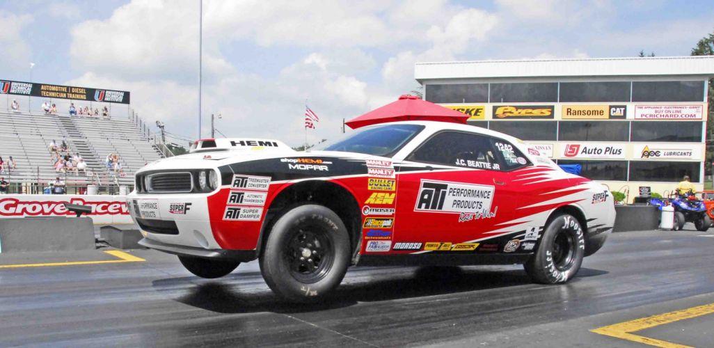 Dodge Challenger Drag Pak mopar race racing muscle hot rod rods hemi wallpaper