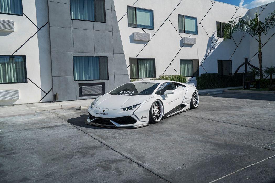 Liberty Walk Lamborghini Huracan Cars Body Kit Modified White