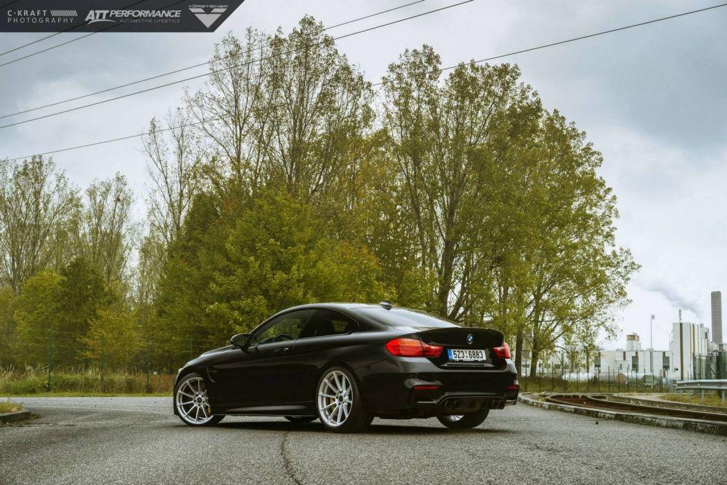BMW-M4 coupe Vorsteiner Wheels cars black wallpaper