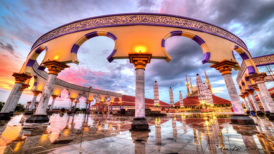 indonesia - semarang - masjid agung - architecture wallpaper