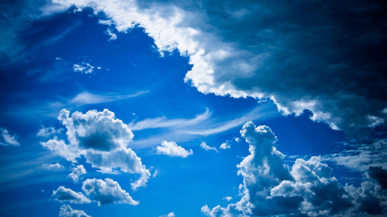 nubes cielo azul wallpaper