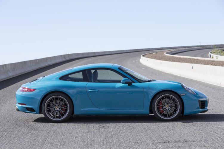 2016 Porsche 911 (991) Carrera coupe blue cars wallpaper