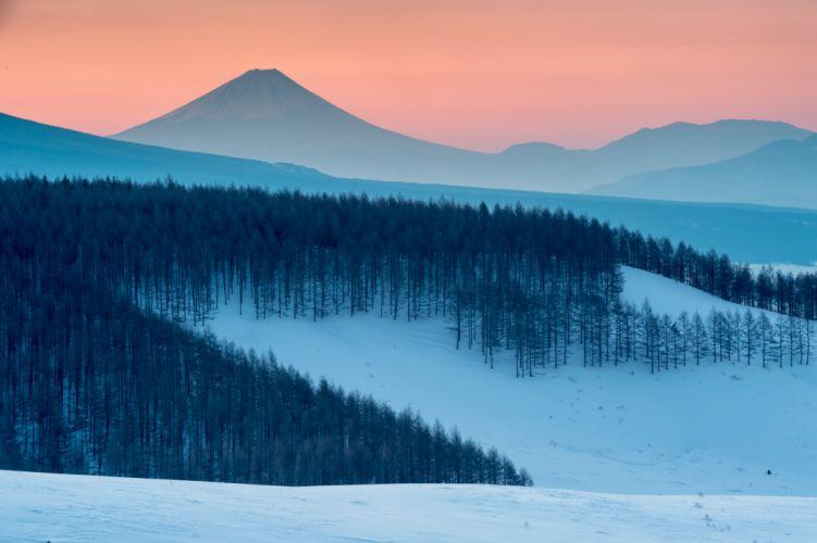 winter snow landscape nature wallpaper