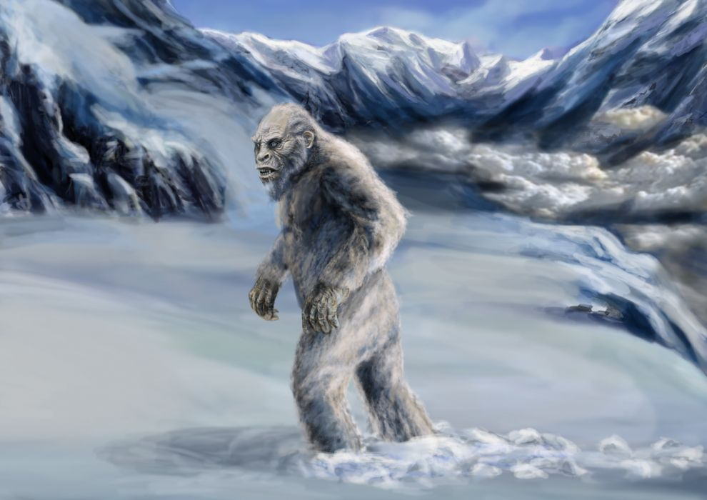 winter snow landscape nature monster creature wallpaper