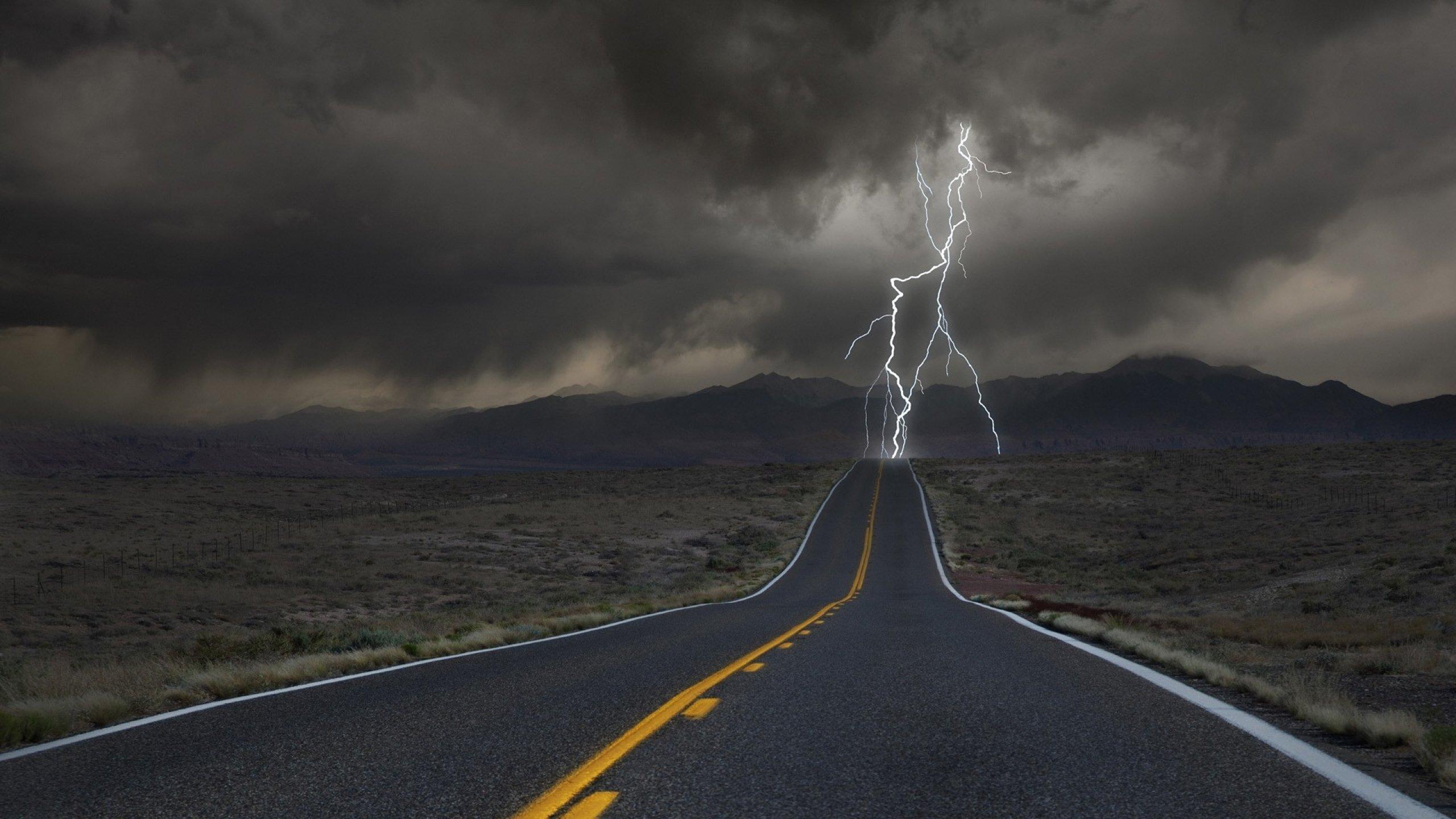 Sky: Ocean Clouds Storm Sky Sea Lightning Nature Wallpaper Hd For ...