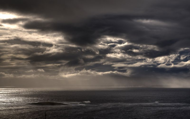 STORM weather rain sky clouds nature ocean sea wallpaper