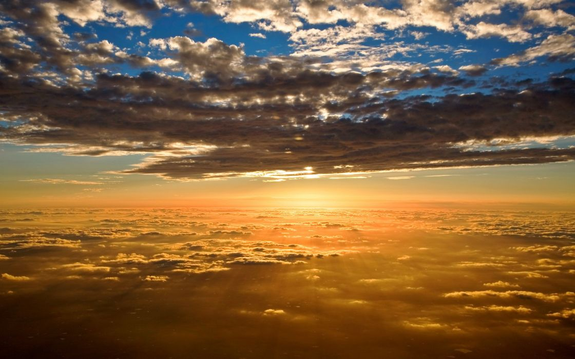 nubes cielo amanecer naturaleza wallpaper
