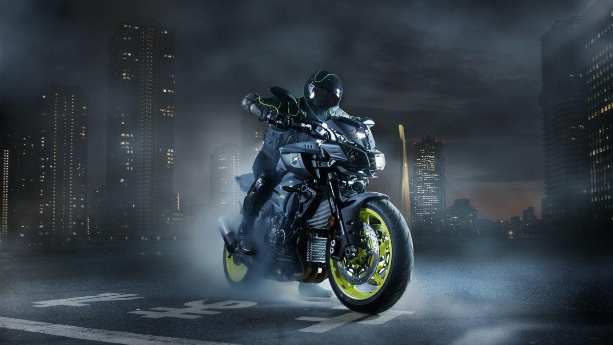 2016 Yamaha MT-10 Ray of Darkness motorcycles wallpaper